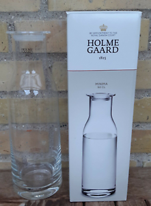 Holmegaard-Denmark-Danish-Modern-Design-Water-Bottle-Carafe-Decanter-Clear