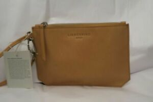 LIEBESKIND-BERLIN-NATURAL-CAMEL-LEATHER-WRISTLET-CLUTCH-PURSE-NWT