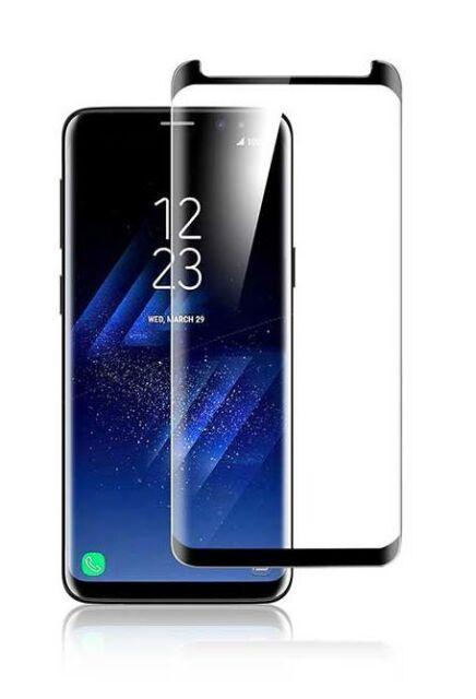 Display Schutz Glas 3D für Samsung Galaxy S8 HD Folie Panzerfolie Curved 9H Klar