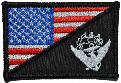 Navy USS Constitution USA Flag 2.25x3.5 Patch