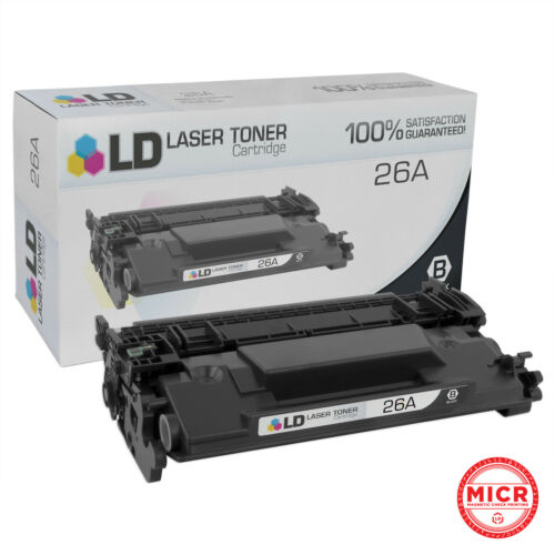 LD Compatible Toner Cartridge Replacement for HP 26A CF226A MICR Black