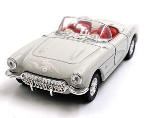 1957-Chevrolet-Corvette-Cabrio-Grigio-Modellino-Auto-Auto-Scala-1-3-4-Licenza