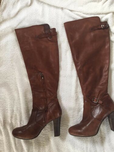 Designer High Genuine Size Ladies Tan 100 6 Ugg Heel Leather Knee Boots X7Bqfww4Px