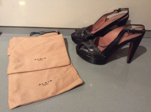 Bags 38 2 High Heels Alaia Black Dust Size Woman's 5 With BqAHgH
