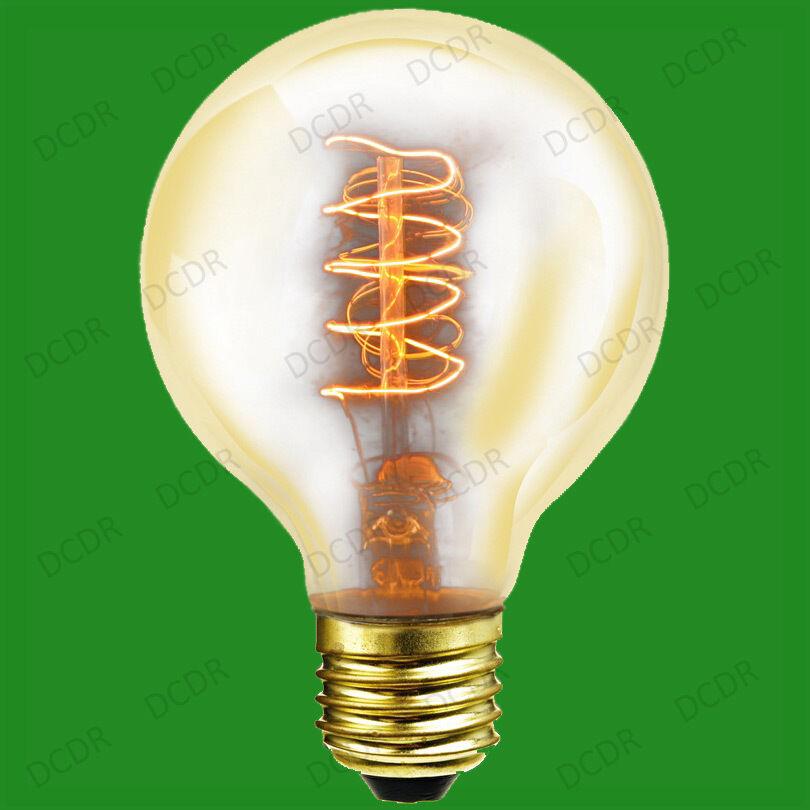 4x 40W ANTICO VINTAGE VINTAGE VINTAGE oro G80 alla regolazione Globe Lampadine, vite ES E27 lampade 7dd5fb