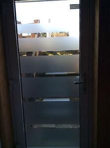 Glasdekorfolie Sichtschutz Milchglasfolie Sandstrahlen Streifen Tur