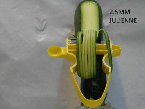 JULIENNE Épluche Set fabriqué au Royaume-Uni 1.5 mm /& 2.5 mm en section transversale