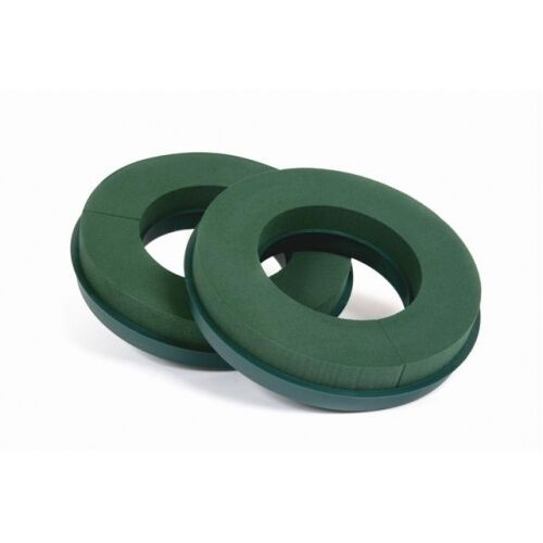 """FLORAL PLASTIC BACKED WREATH RINGS PAIRS 10/""""12/""""14/"""" FUNERAL FAST AND FREE POSTAGE"""