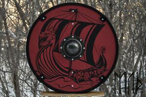 X-MAS GIFT Wood /& Metal MEDIEVAL Knight Shield Handcrafted Viking Shield L43