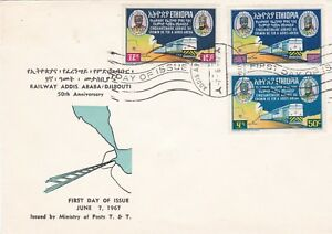 Details about Ethiopia: 1967 50th Anniv  of the Addis Ababa – Djibouti  Railway, FDC