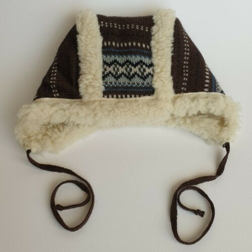 WINTER VERY WARM BABY HATS BONNETS WITH TIES 0-3 Months 3-6 Months 50/% WOOL
