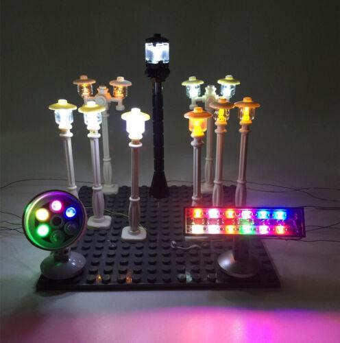 LED Accessories light for LEGO City Series street light //spotlight//traffic light