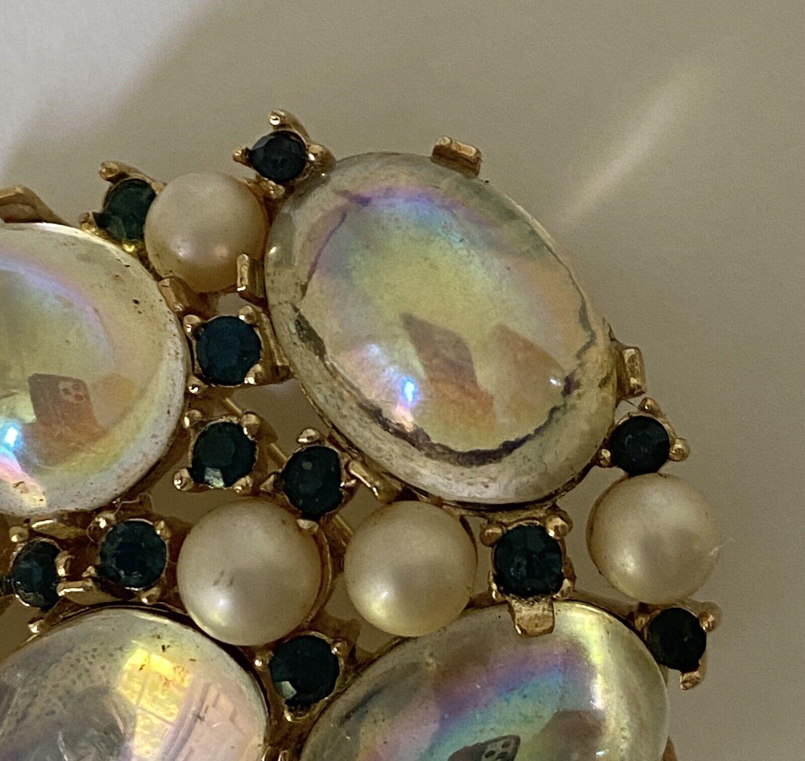 Trifari Sapphire & Pearl Brooch 1950s/60s - image 6
