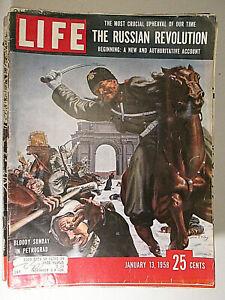 LIFE magazine January 13 1958 Russian Revolution Bloody Sunday In Petrograd