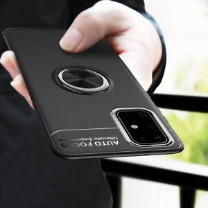 Pour-Samsung-Galaxy-S21-S20FE-A50-A71-magnetique-Hybride-Bague-Support-TPU-boitier-metal