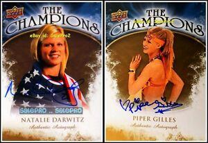 2x-UPPER-DECK-2009-DARWITZ-CHND-GILLES-CHPG-OLYMPIC-CHAMPIONS-AUTOGRAPH-LOT