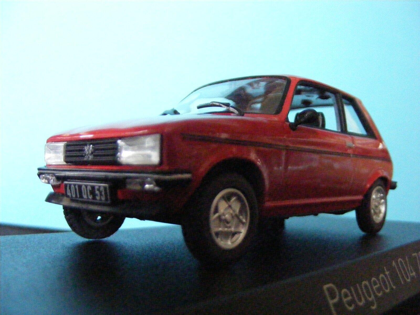 60% de descuento Peugoet 104 ZS en rojo 1979 francés registrado registrado registrado LHD Norev 1 43rd Nuevo elemento  marcas en línea venta barata