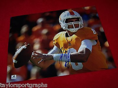 Tyler Bray Tennessee Volunteers Signed 11x14 Photo Global Authentic Certified To Assure Years Of Trouble-Free Service Photos