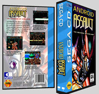 Android Assault - Sega Cd Reproduction Art Dvd Case No Game