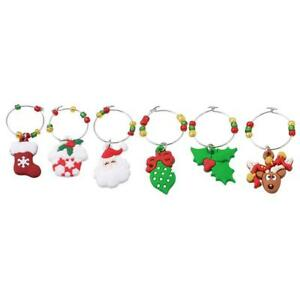 6pcs-Set-Christmas-Mark-Ring-Wine-Glass-Charms-Pendant-Table-Decorations-NEW-S