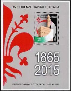 REPUBBLICA-2015-FOGLIETTO-150-FIRENZE-CAPITALE-D-039-ITALIA-NUOVO-MNH