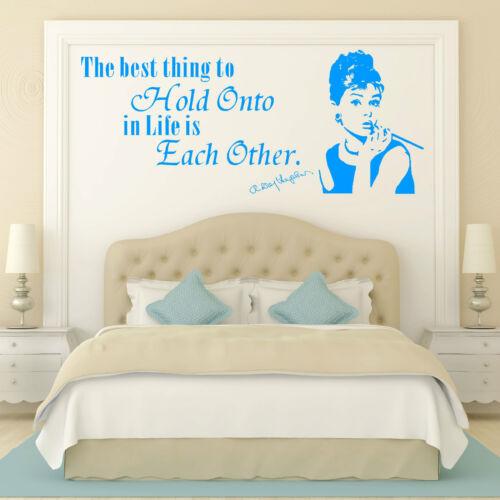 Audrey Hepburn la mejor cosa que mantenerlas en la vida es unos de otros arte de pared de cotización
