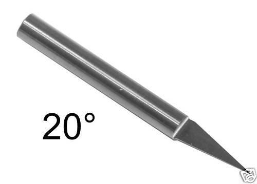 Ø 4x20 ° X0 5mm Buril Cónico Fresa CNC para Máquina de Grabado Fresa de Acabado
