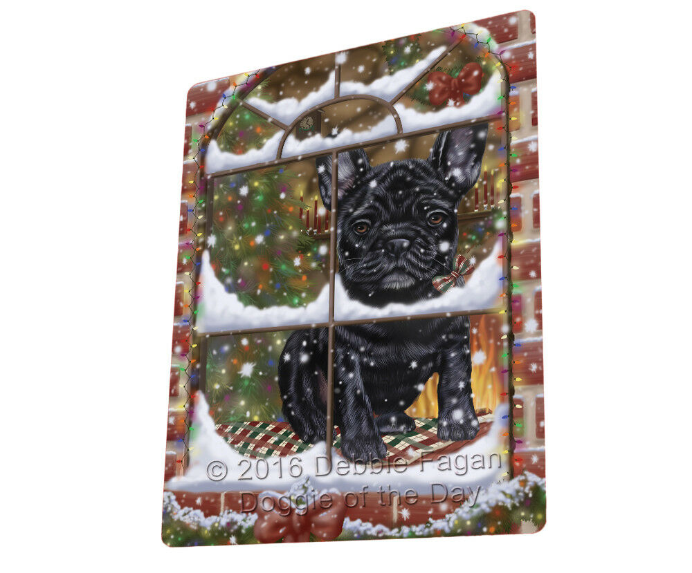 Please Come Home For Christmas French Bulldog Sitting Window Blanket BLNKT54021