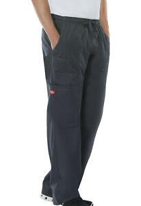 Dickies Gen Flex Mens Cargo Scrub Pants Black Tall