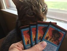 4 Miscut FORCE OF WILL Alliances Misprint MTG Magic PLAYSET Vintage Holy Grail