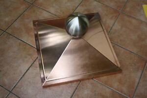 Wetterschutz mit Kugel Kupfer-Pfeilerabdeckung Säulenabdeckung Titanzink- bzw