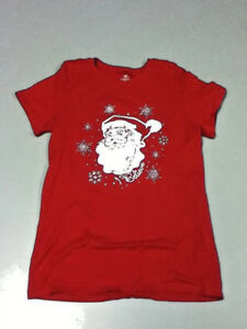 054b22710 Women's size small or 4-6 EUC red santa claus holiday Xmas shirt ...