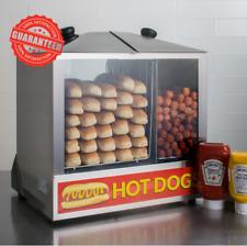 Hot Dog Steamer Commercial 200 Hotdog Cooker Bun Warmer Concession Merchandiser