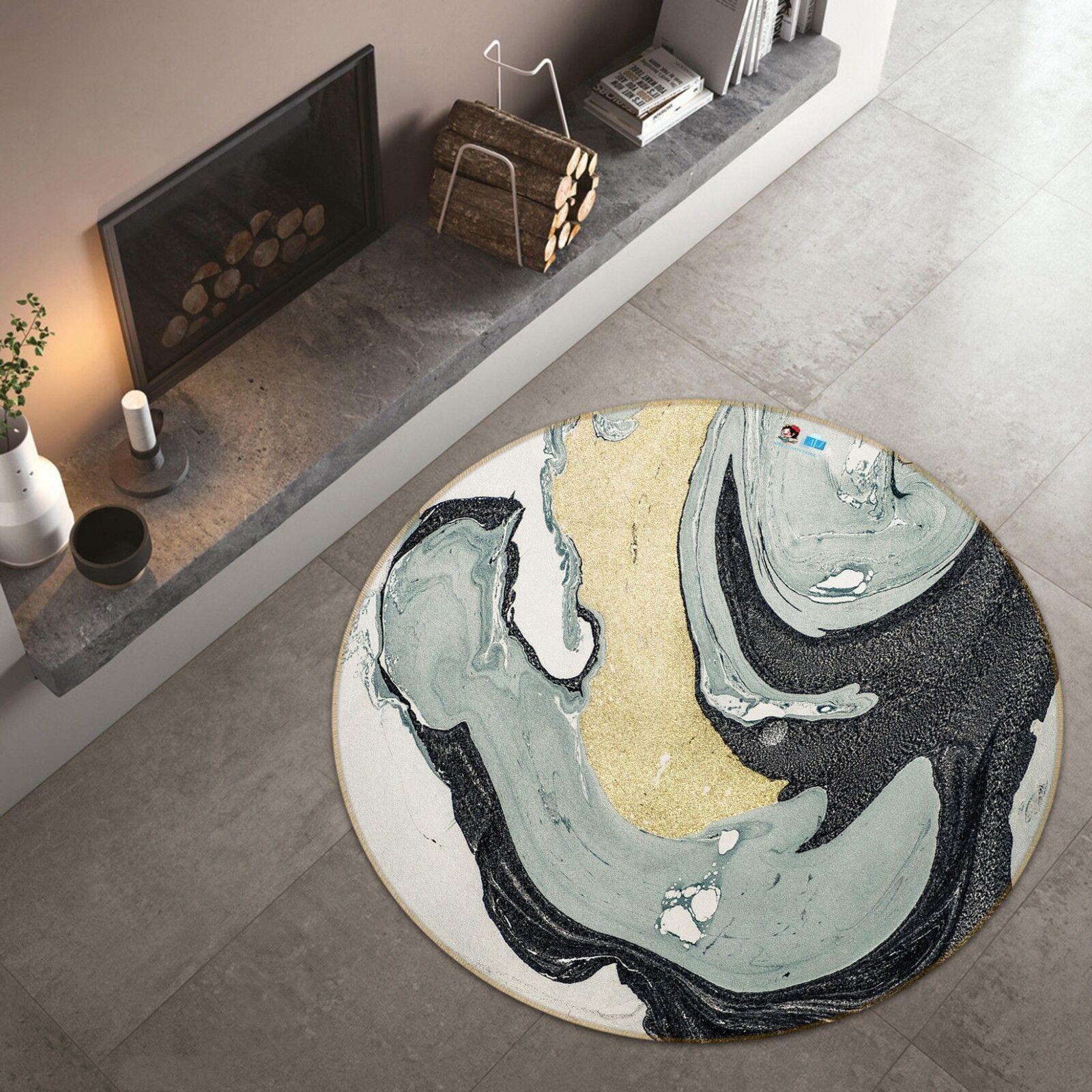 3D Abstraktes Muster 15 15 15 Rutschfest Teppich Raum Matte Runden Elegant Teppich DE cc1db4