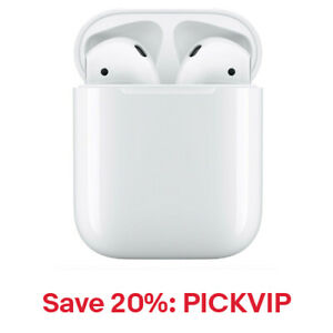 Apple AirPods Generation 2 with Charging Case MV7N2AM/A, 20% Off: PICKVIP