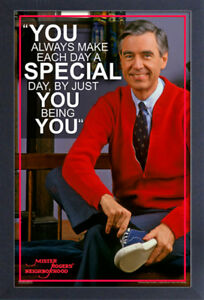 Mister Rogers Neighborhood You Being You 13x19 Frame Gelcoat Poster Tv Children Ebay