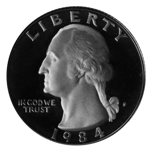 1984 S Washington Quarter 25c Gem Deep Cameo Proof CN-Clad US Coin