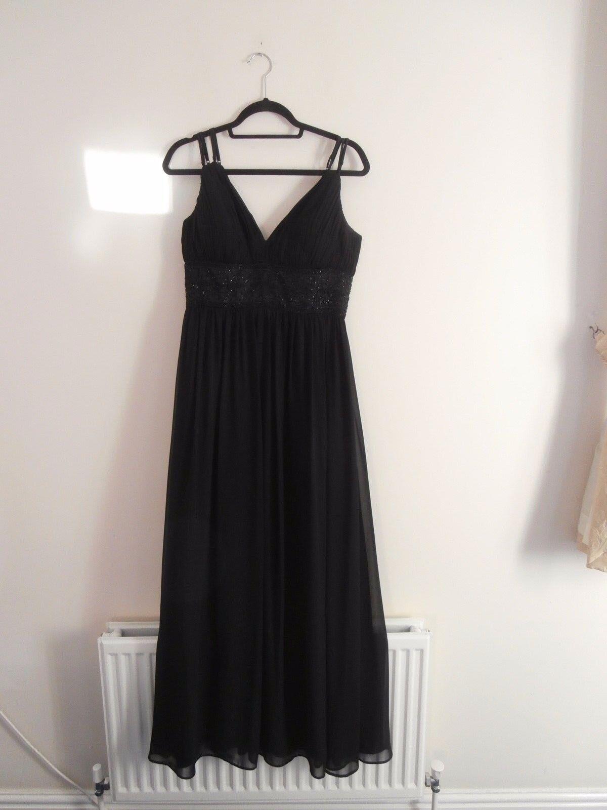 OC par Femme OC Größe 10 Soie schwarz Robe de soirée
