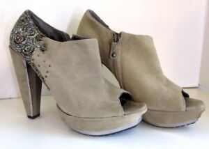 a30e2c585 Size 10 Sam Edelman Taupe Suede Bootie Beaded Una High Heeled ...