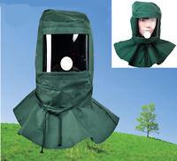 Sand Blasting Hood Cap Anti-wind Sandblaster Polish Grind Dust Protect Face Mask