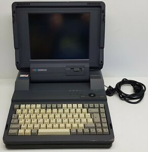 Amstrad-ACL-386SX120-Color-LCD-Laptop-Computer-Vintage-Rare-MS-DOS-machine