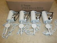 4 White Z-trap Dog Proof Push Pull Trigger Traps Trapping