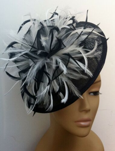 Bespoke BlackWhite Hat Fascinator Mother Of The BrideGroom Weddings Races