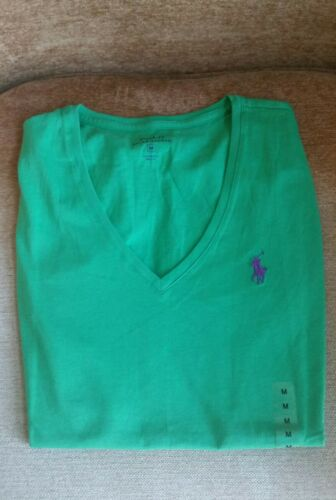 NWT Women's Polo Ralph Lauren V-neck T-shirt Size S