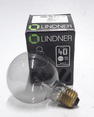 VINTAGE RING MIRRORED GOLD BULB LINDNER GERMANY 80mm E27 40W NEW OLD STOCK