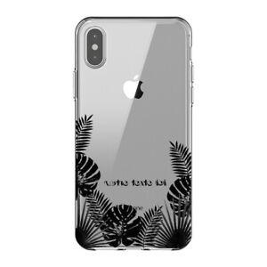 Coque Iphone X et XS jungle noir personnalisee