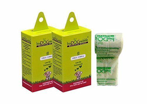Compostable Poop Pick-Up Bags for Pets Poop Bags Dog Waste Bags 2 45 Packs