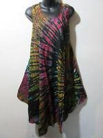 Dress Fits 1X 2X 3X Plus Sundress Tunic Black Green Pink A Shaped NWT 748 D