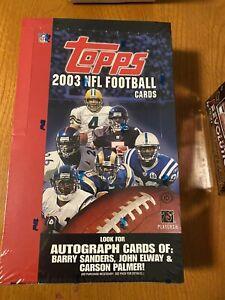 2003 Topps NFL factory Sealed Hobby box