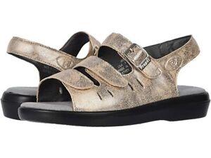 Wide Width Oyster Propet Women/'s Aurora Leather Comfort Sandals NIB